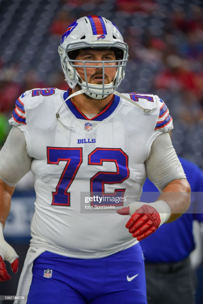 promo code 3a3fd 414b0 Buffalo Bills center Ryan Groy warms up before the football ...