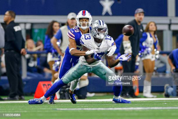 Buffalo Bills Cornerback Kevin Johnson breaks up a pass intended for Dallas Cowboys Wide Receiver Michael Gallup during the game between the Buffalo...