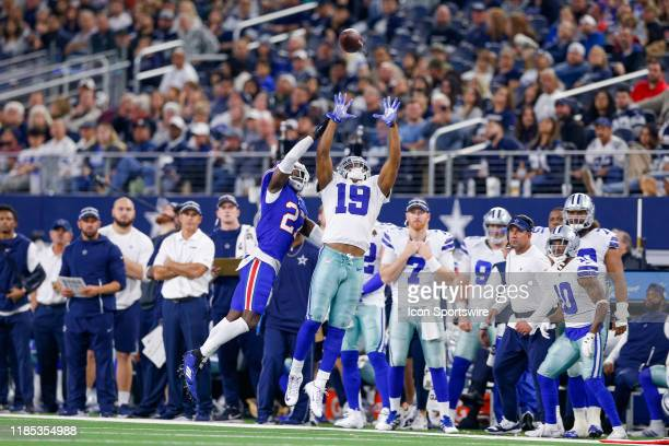Buffalo Bills Cornerback Tre'Davious White breaks up a pass intended for Dallas Cowboys Wide Receiver Amari Cooper during the game between the...