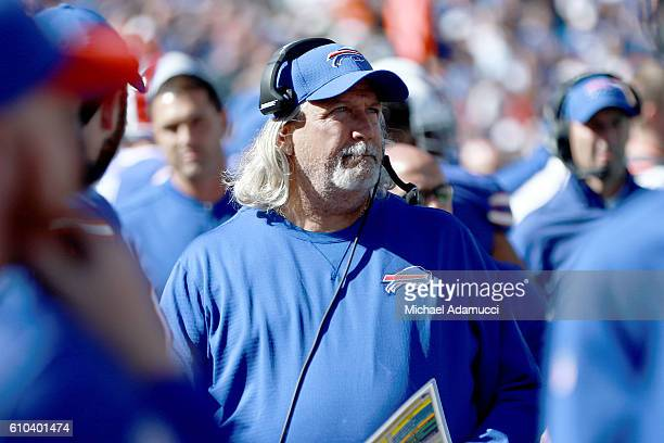 Buffalo Bills Defensive coordinator Rob Ryan watches his team play the Arizona Cardinals during the first half at New Era Field on September 25 2016...