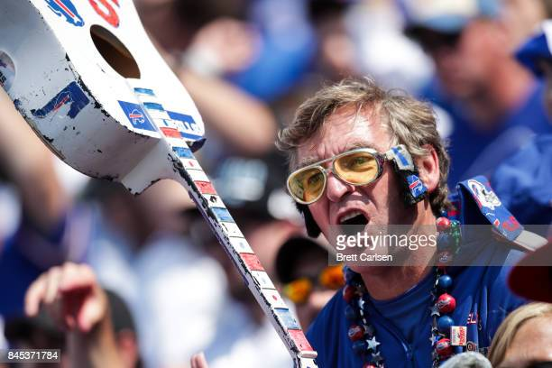 Buffalo Bills fan during the second half against the New York Jets on September 10 2017 at New Era Field in Orchard Park New York