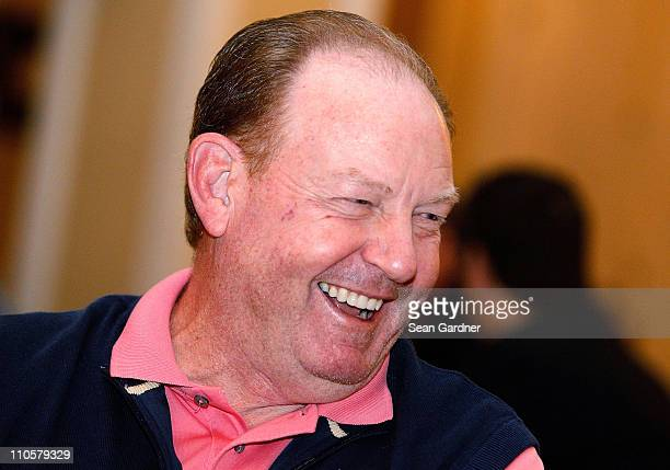 Buffalo Bills head coach Chan Gailey answers questions from the media during the NFL Annual Meetings at the Roosevelt Hotel on March 22 2011 in New...