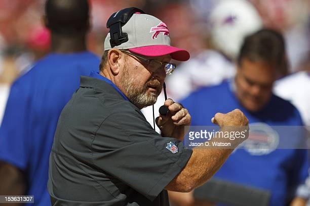 Buffalo Bills head coach Chan Gailey on the sidelines against the San Francisco 49ers during the first quarter at Candlestick Park on October 7 2012...