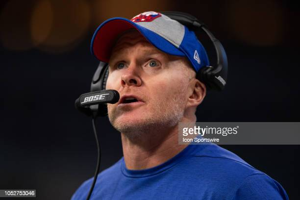 Buffalo Bills head coach Sean McDermott on the sidelines during the NFL game between the Indianapolis Colts and Buffalo Bills on October 21 at Lucas...