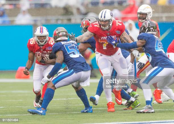 Buffalo Bills running back LeSean McCoy runs the ball During the NFL Pro Bowl match between the AFC NFC on January 28 2018 at Camping World Stadium...