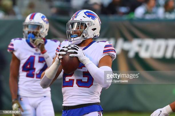 Buffalo Bills strong safety Micah Hyde during the National Football League game between the New York Jets and the Buffalo Bills on November 11, 2018...