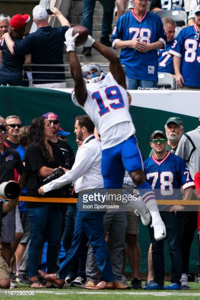 Buffalo Bills Wide Reciever Isaiah McKenzie prior to the game between the Buffalo Bills and the New York Jets on September 8 at MetLife Stadium in...
