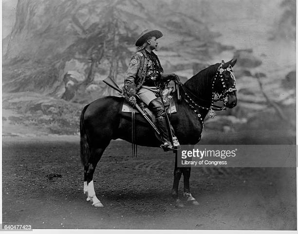 Buffalo Billy Cody Sitting on Horse