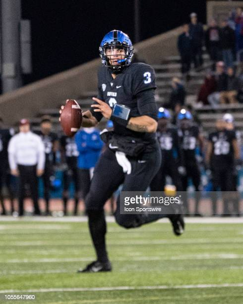 Buffalo Bulls Quarterback Tyree Jackson looks to pass the ball during the second quarter of the Miami OH Redhawks versus the Buffalo Bulls game on...