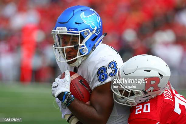 Buffalo Bulls wide receiver Anthony Johnson during the College Football game between the Rutgers Scarlet Knights and the Buffalo Bulls on September...