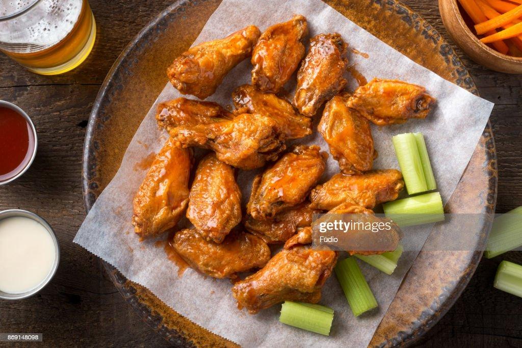 Buffalo Chicken Wings : Stock Photo