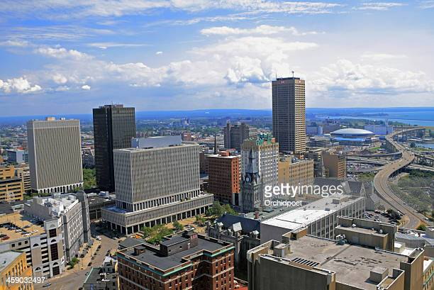 buffalo downtown and waterfront - buffalo new york state stock pictures, royalty-free photos & images