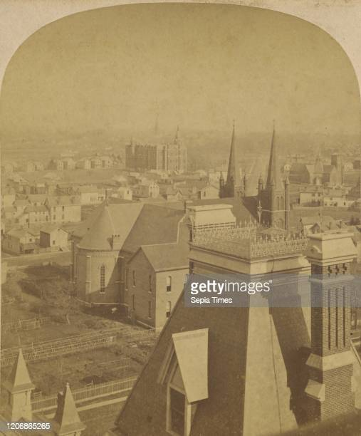 Buffalo from Tourists' and Invalids' Hotel. Buffalo, N.Y, A. W. Simon , about 1879, Albumen silver print.