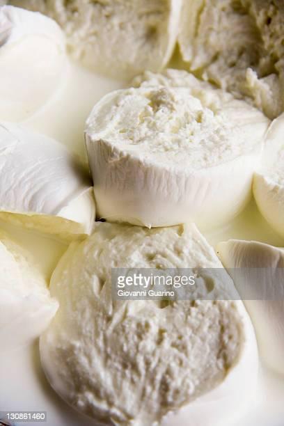 Buffalo mozzarella cheese, Campana Doc product famous in Naples, Campania, Italy, Europe