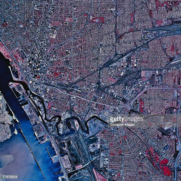 """buffalo, new york, satellite image"" - buffalo new york state stock pictures, royalty-free photos & images"