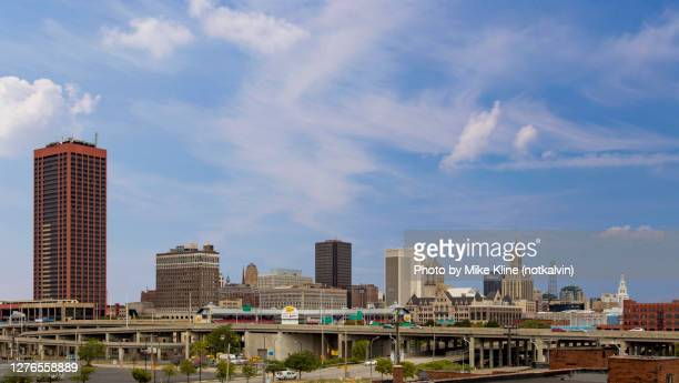 buffalo new york skyline - buffalo new york state stock pictures, royalty-free photos & images