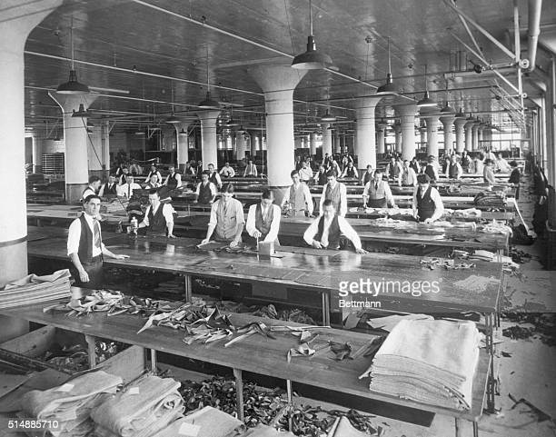 Buffalo, NY: Garment Manufacture before mechanization. The cutting room floor. Club Clothes. 1920's.