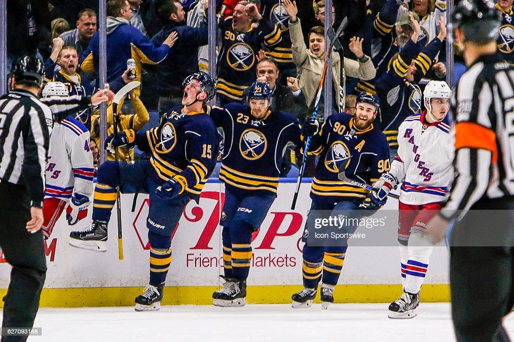 NHL: DEC 01 Rangers at Sabres : News Photo