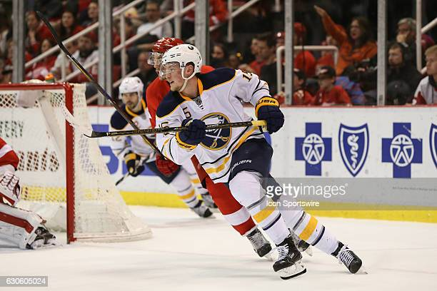 Buffalo Sabres forward Jack Eichel skates during the second period of a regular season NHL hockey game between the Buffalo Sabres and the Detroit Red...