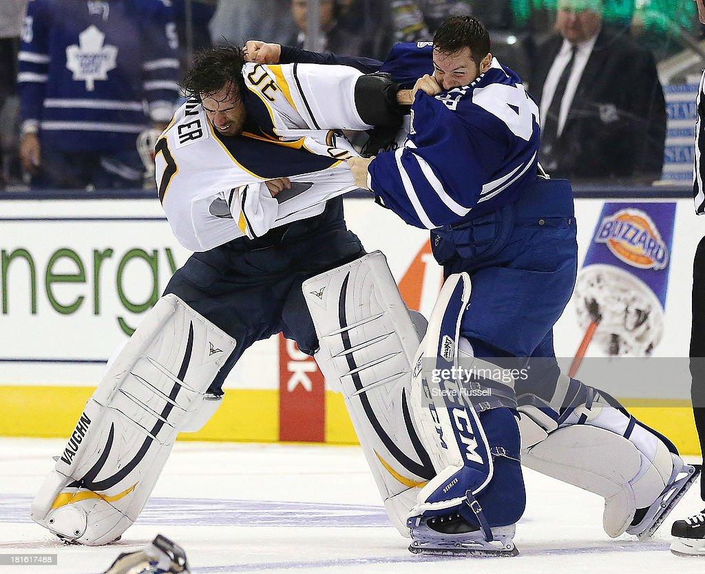 Toronto Maple Leafs beat the Buffalo Sabres 5-3 in preseason action : News Photo