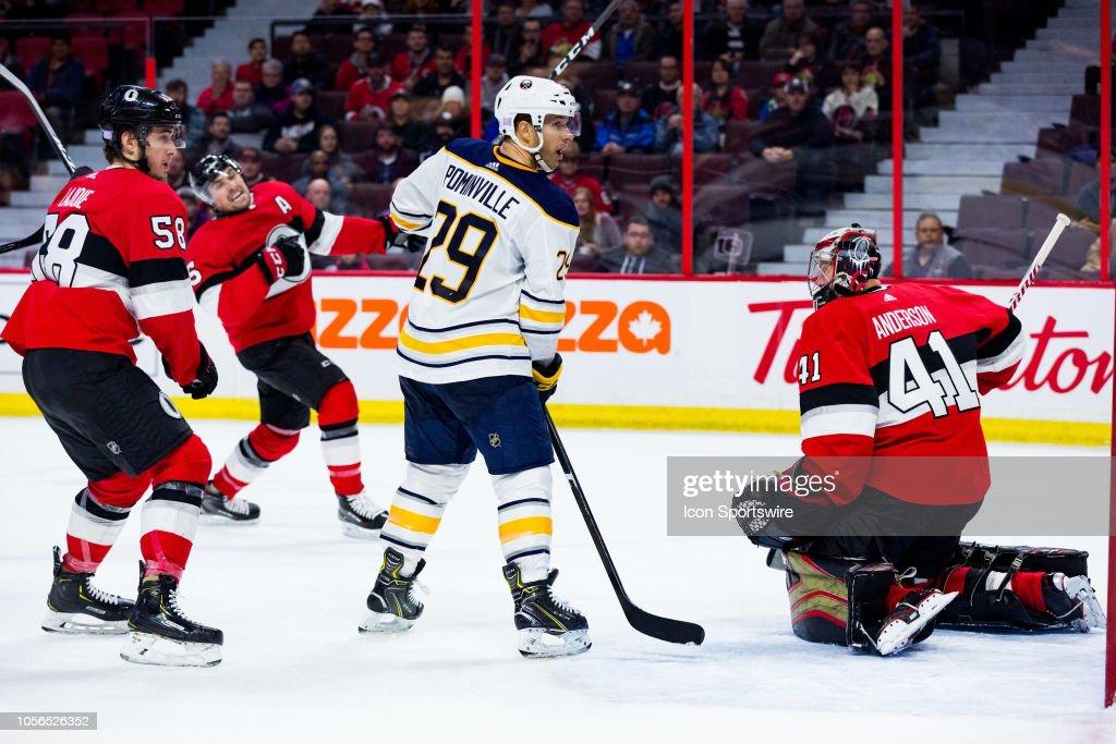 NHL: NOV 01 Sabres at Senators : News Photo