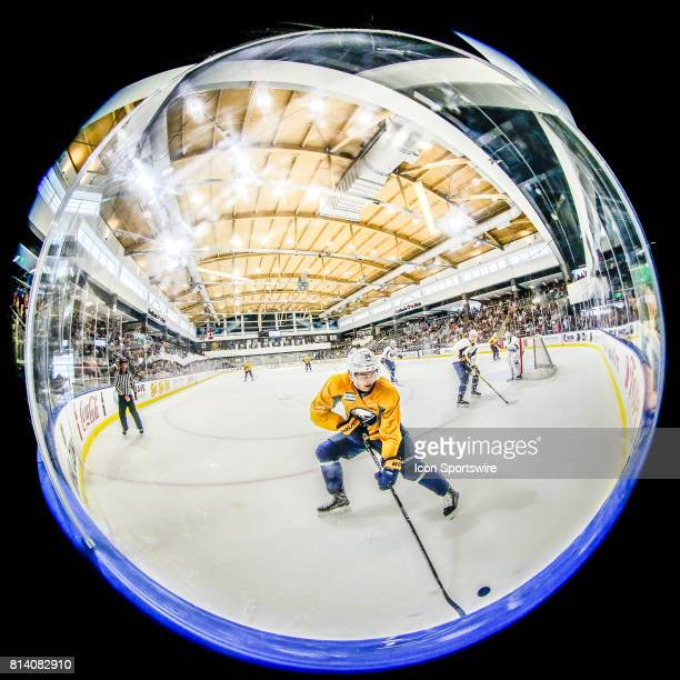 Buffalo Sabres Right Wing Vaclav Karabacek skates to puck during the French Connection Tournament at the Buffalo Sabres Development Camp on July 11...