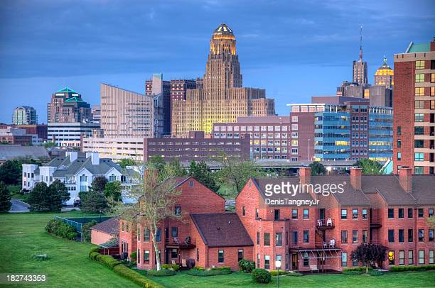 buffalo skyline - buffalo new york state stock pictures, royalty-free photos & images