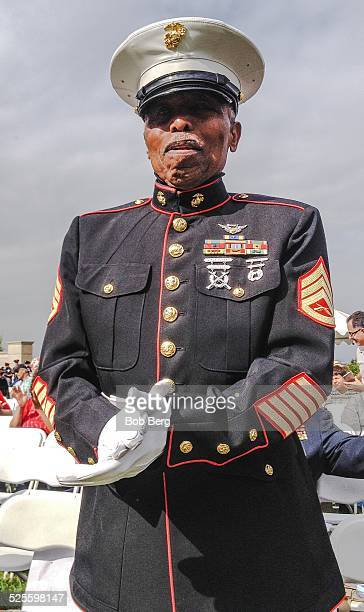 Los Angeles Ca November 11 2014 A Buffalo Soldier at the 55th annual Veterans Day ceremony held at Forest Lawn cemetery in the Hollywood Hills