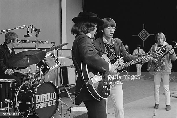 Buffalo Springfield's Dewey Martin David Crosby Richie Furay and Stephen Stills jam during their set at the Monterey Pop Festival