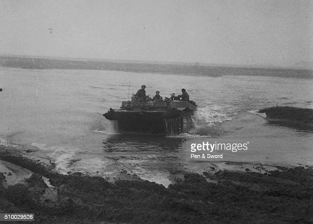 Buffalo tanks crossing the Rhine France