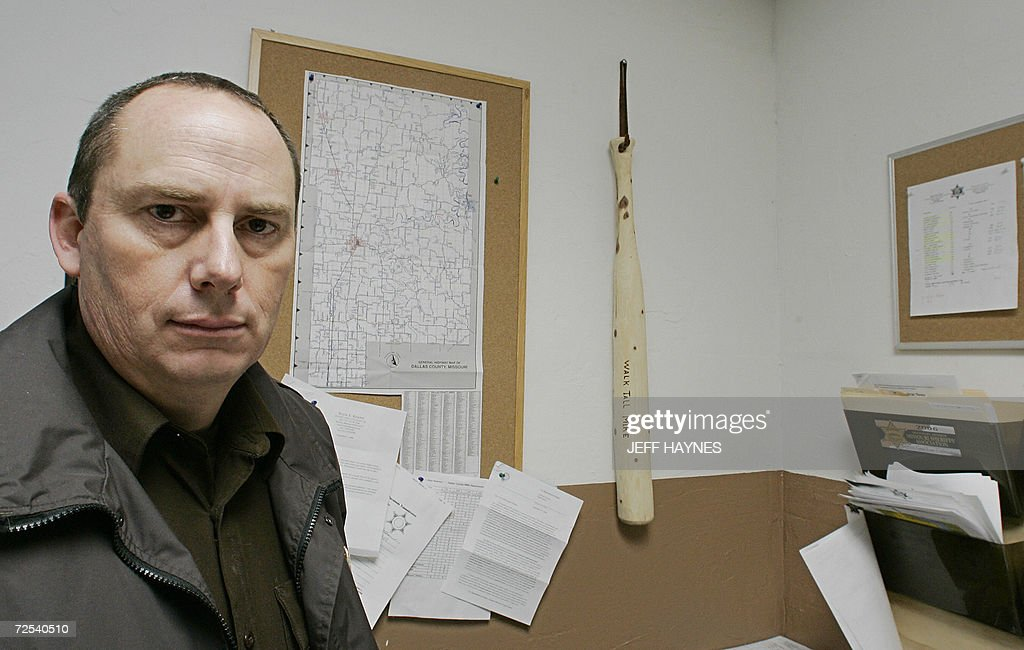 Dallas County Sheriff Mike Rackley sits in his office in
