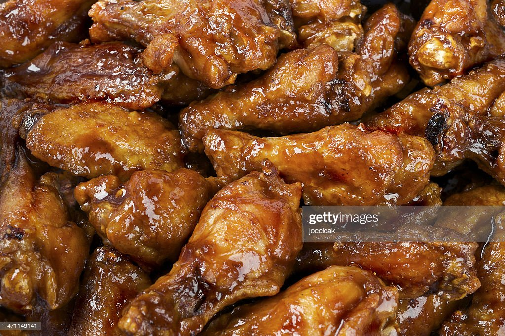BBQ Buffalo Wings : Stock Photo