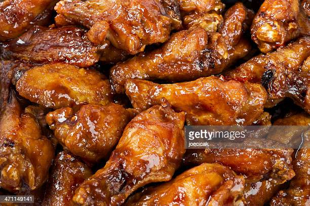 bbq buffalo wings - chicken wings stock pictures, royalty-free photos & images