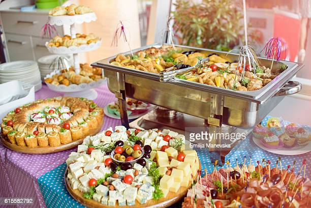 Buffet catering food
