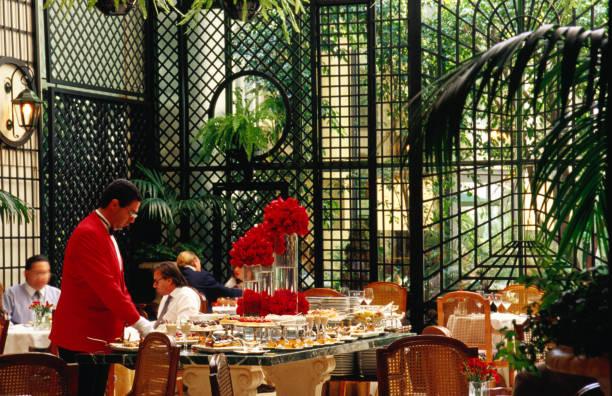 Buffet lunch at Jardin D'Hiver in Alvear Palace Hotel, Alvear 1891, Recoleta.