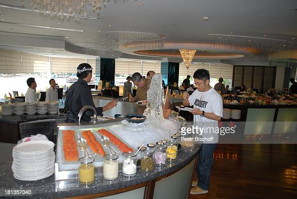 Buffet Restaurant vom OrientalHotel Bangkok Thailand Speisen Essen Luxus edel Reise
