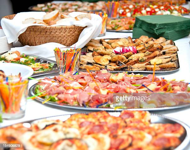 buffet-with catering tasty colorful delicious food