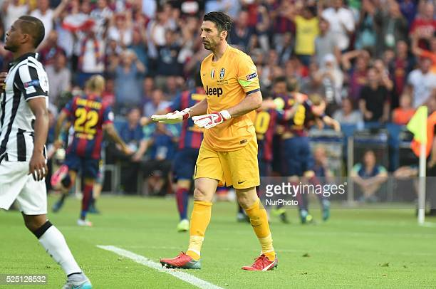 Buffon during the UEFA Champions League Final football match between Juventus and FC Barcelona at the Olympic Stadium in Berlin on June 6 2015