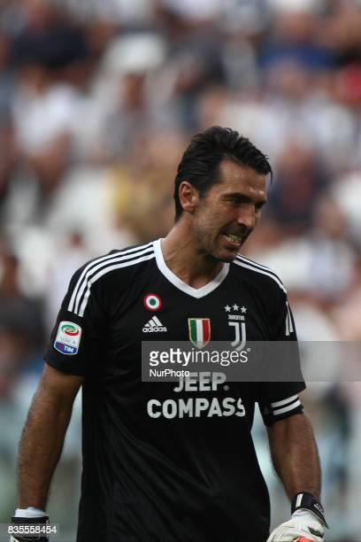 Buffon shows dejection during the Serie A football match n1 JUVENTUS CAGLIARI on at the Allianz Stadium in Turin Italy