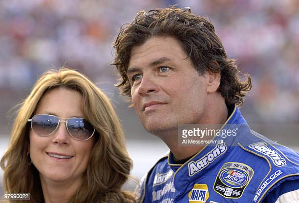 Buffy and Michael Waltrip before the Carquest Auto Parts 300 Busch series race on May 26 2006 at Lowe's Motor Speedway in Charlotte North Carolina