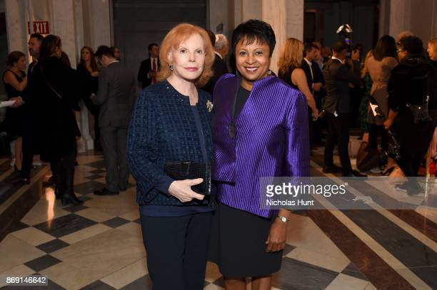 Buffy Maire Cafritz and Librarian of Congress Dr Carla Hayden attend the AFI 50th Anniversary Gala at The Library of Congress on November 1 2017 in...