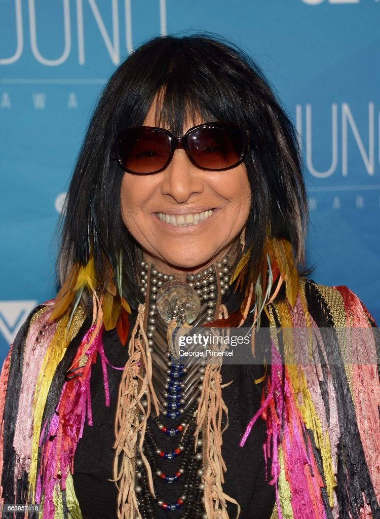 Buffy Sainte- Marie arrives at the 2017 Juno Awards at Canadian Tire Centre on April 2, 2017 in Ottawa, Canada.