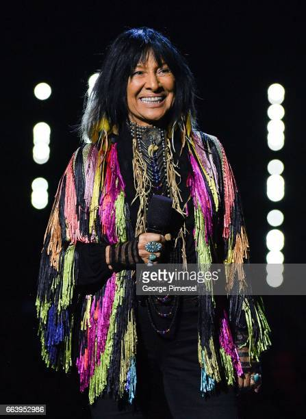 Buffy SainteMarie at the 2017 Juno Awards at The Canadian Tire Centre on April 2 2017 in Ottawa Canada