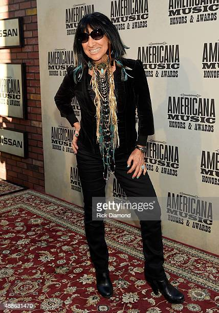 Buffy SainteMarie attends the 14th annual Americana Music Association Honors and Awards Show at the Ryman Auditorium on September 16 2015 in...