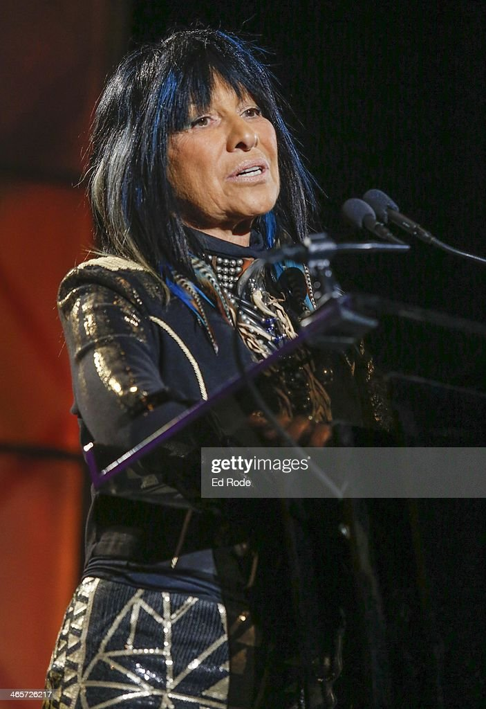 Buffy Sainte-Marie attends the 2014 Musicians Hall of Fame Induction Ceremony at Nashville Municipal Auditorium on January 28, 2014 in Nashville, Tennessee.