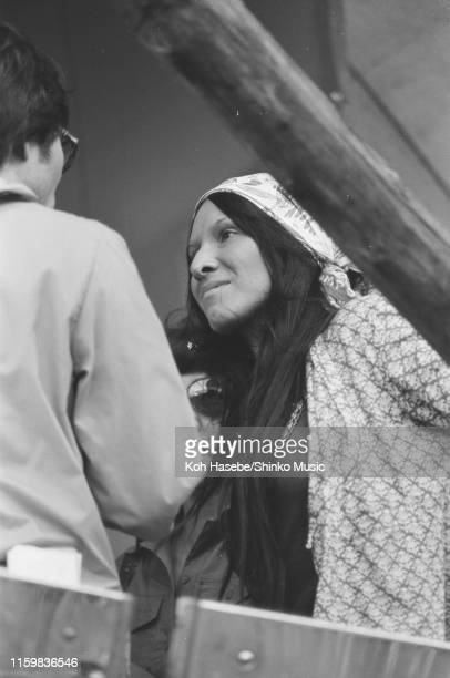 Buffy SainteMarie off stage at Hakone Aphrodite Japan 6th August 1971