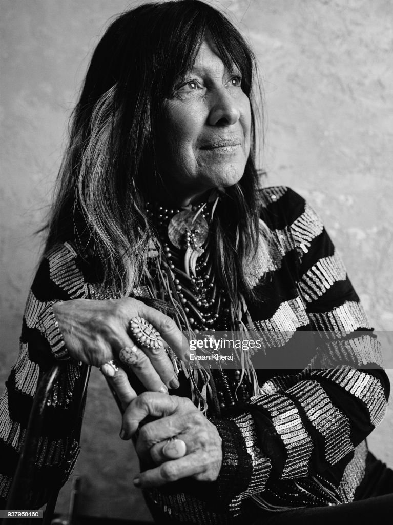 ea3d4bc4d3 Buffy Sainte-Marie poses for a portrait at the YouTube x Getty ...