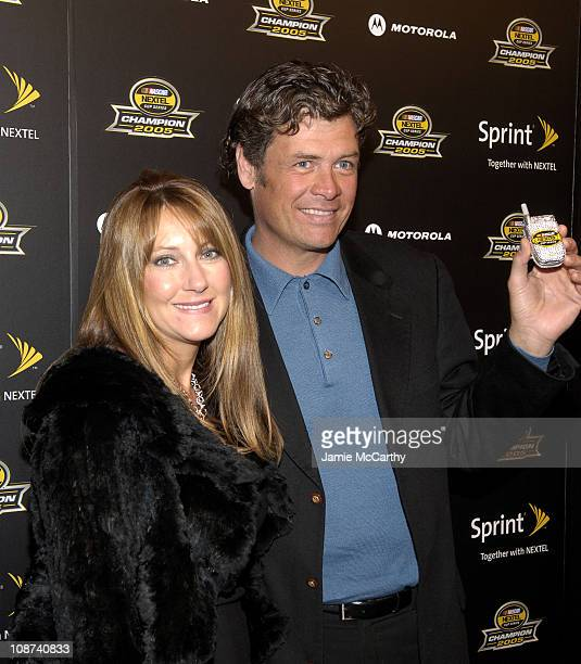 Buffy Waltrip and Michael Waltrip during 2005 NASCAR Nextel Cup Series Champion's Party at Marquee Presented by Sprint at Marquee in New York City...