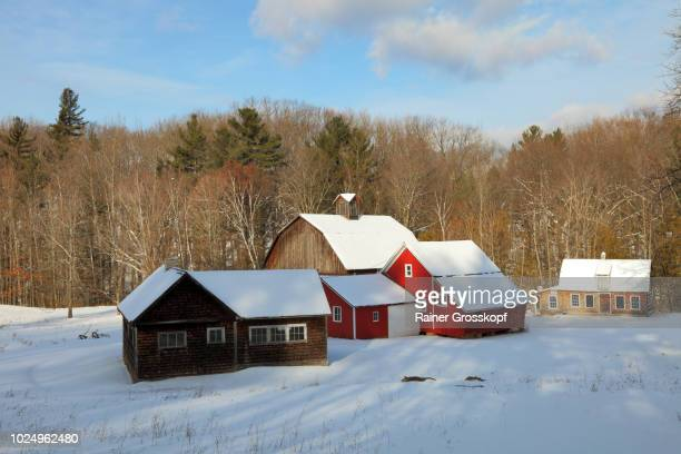 Bufka Farm in snow landscape in winter