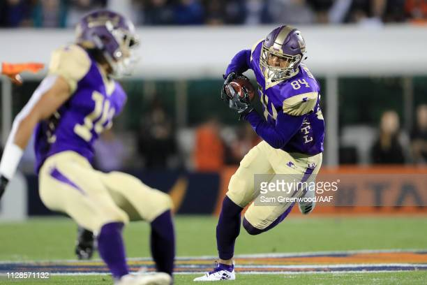 Bug Howard of Atlanta Legends makes a reception against the Orlando Apollos during the first quarter on February 09 2019 in Orlando Florida